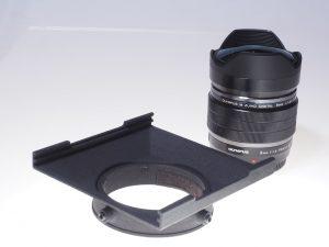 Filterholder for the ZUIKO µFT 8mm f1,8 Fisheye