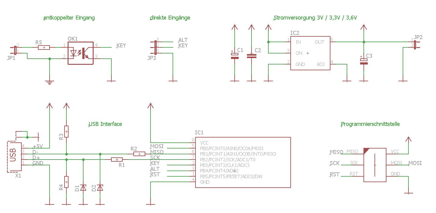 usb-hid-adaptor circuit diagram