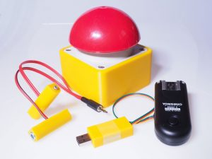 Heavy-duty buzzer with charging adapter and USB-receiver