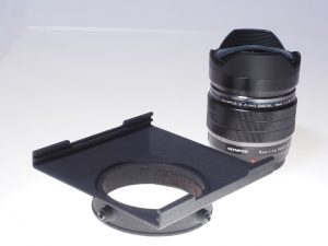 Filterholder for the ZUIKO µFT 8mm f1,8 Fisheye