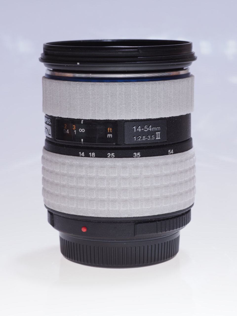 Olympus Zuiko 14-54mm II mit 3D gedrucktem Zoom- und Fokusring